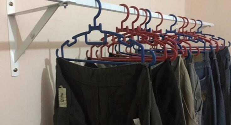Projek D.I.Y Rak Penggantung Pakaian