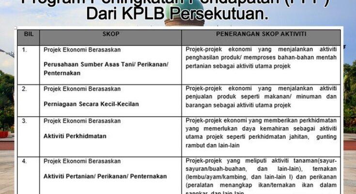 Program Peningkatan Pendapatan (PPP) Dari KPLB Persekutuan