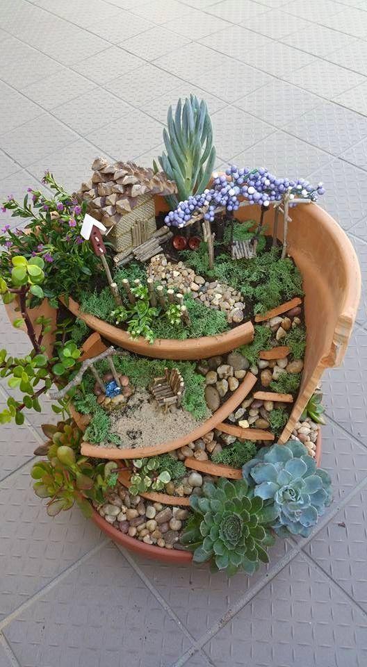 Idea Kreatif Pasu Hiasan Pasu Pecah (Broken Pots) 3