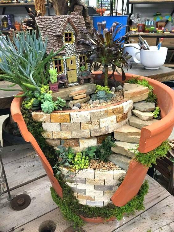 Idea Kreatif Pasu Hiasan Pasu Pecah (Broken Pots) 5