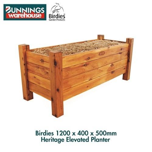 Bunnings Birdies #3321392 1200 x 400 x 500mm Heritage Elevated Planter